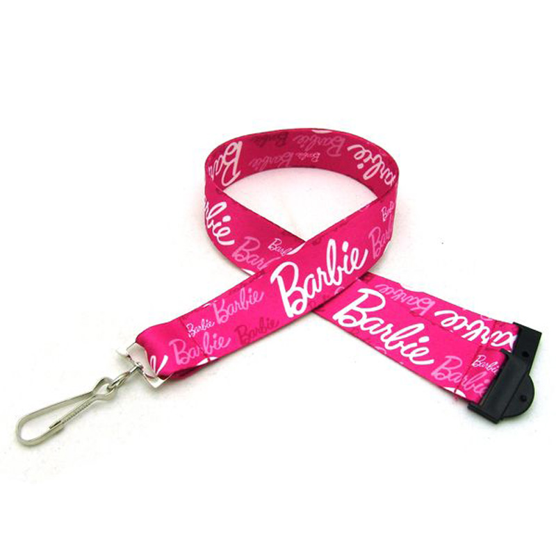"1"" Digitally Sublimated Lanyard w/ Sew on Breakaway"