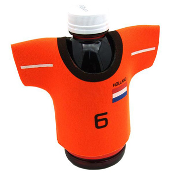 One Color Silkscreened Jersey Shaped Foam Cooler