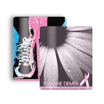 "Breast Cancer Awareness 2.5""x3.5"" Gift Card Stock Lanyard Card"