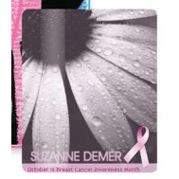 "Breast Cancer Awareness 3.5"" x 5"" Gift Card Stock Lanyard Card"