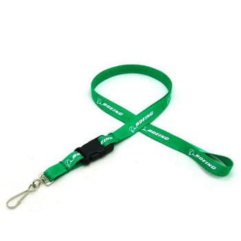 "1/2"" Silkscreened Flat Lanyard w/Detached Buckle"