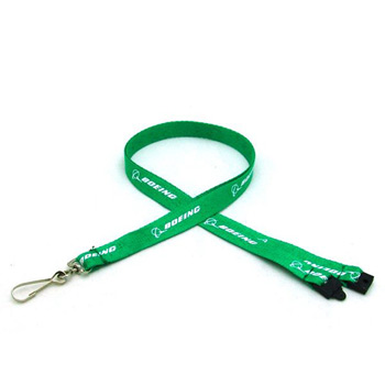 "1/2"" Silkscreened Flat Lanyard w/ Sew on Breakaway"