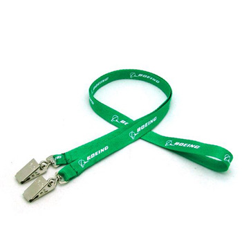 "1/2"" Silkscreened Flat Lanyard w/ Double Standard Attachment"