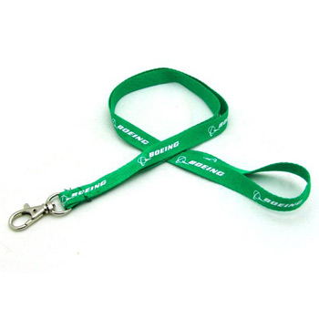 "1/2"" Silkscreened Flat Lanyard w/ Deluxe Swivel Hook"