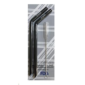 Blister straw packaging with full color card