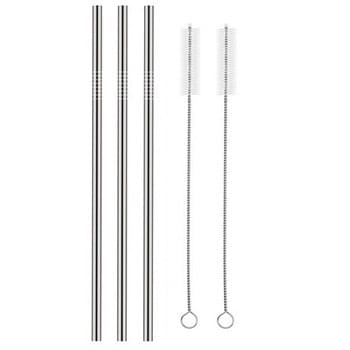 Straight 6mm Stainless Steel Straw
