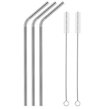 Bent 8mm Stainless Steel Straw